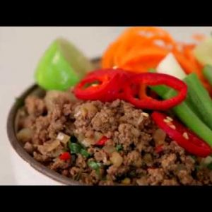 Grain-free Thai Beef Bowls {Paleo, Whole30, Keto}