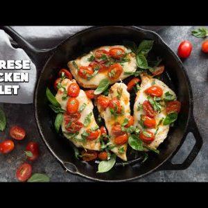 Easy Chicken Caprese Skillet   20 Minute Keto Dinner Recipe