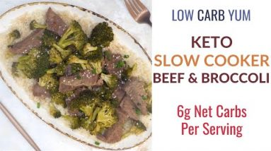 Keto Beef and Broccoli in Slow Cooker