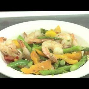 A Low-Carb Shrimp & Vegetable Stir-Fry : Vegetable Dishes