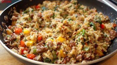 Keto Cheesy Pork Fried Rice (Cauliflower Rice) | Keto Recipes | Headbanger's Kitchen