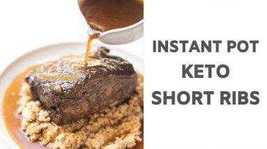 Instant Pot Keto Braised Short Ribs
