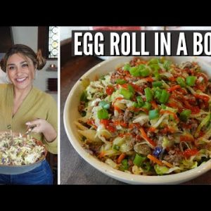 KETO EGG ROLL IN A BOWL! How to Make a Delicious Keto Egg Roll in a Bowl Recipe | Only 5 Net Carbs!