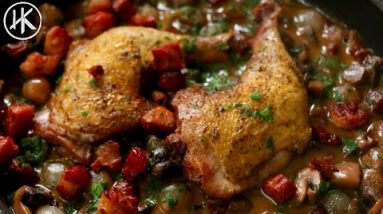 Coq Au Vin   Keto Chicken Recipe   Chicken in Red Wine