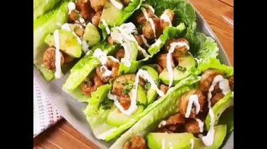 Keto Diet/ Low calorie recipe / shrimp wraps # Make sure to share this to keto friend 😍