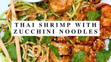 Thai Shrimp with  Zucchini Noodles Keto Recipes Keto Diet For Everyone