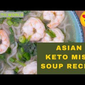 Tasty And Easy  😍 Asian Keto Miso Soup Recipe (Topped with Shrimp) | Keto Recipes | The Keto World