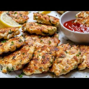 How To Make Chicken Fritters – Cheesy Chicken Fritters Recipe (Keto Recipe) – Blondelish