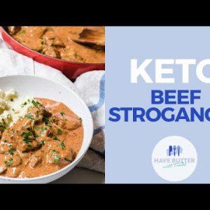 Keto Beef Stroganoff – delicious low carb winter warmer beef dish!