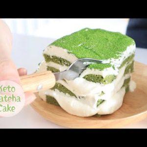 keto recipe-the best keto matcha cake | keto cooking vlog |sugar free gluten free |松软又美味,生酮抹茶奶油蛋糕