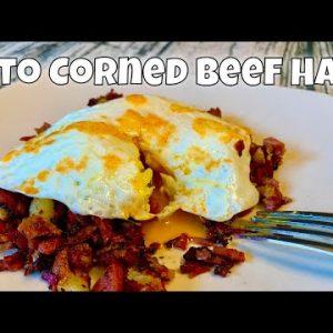 Keto Corned Beef Hash w/Turnips instead of Potatoes