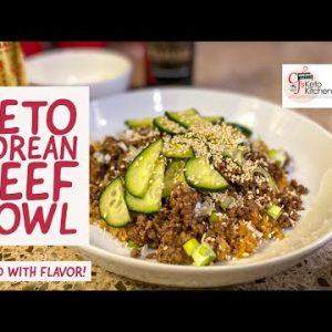 Keto Korean Beef Bowl #ketorecipes #lowcarbrecipes #EasyKetoRecipes #easylowcarbrecipes