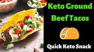 Keto Ground Beef Taco Recipe | Delicious and Low Carb Keto Snack |