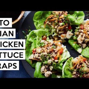 Keto Asian Chicken Lettuce Wraps #Paleo #Whole30 #Keto