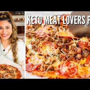 ZERO CARB CRUST PIZZA! How to Make Keto Meat Lovers Pizza Recipe