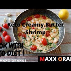 how to make delicious keto creamy butter shrimp recipe, simple and quick recipe tutorial.