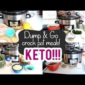 DUMP & GO CROCK POT MEALS | KETO CROCK POT MEALS 2020