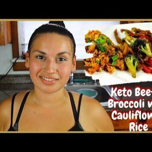 Keto Broccoli & Beef Stir fry With Cauliflower Fried Rice