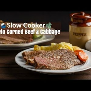 Slow Cooker Keto Corned Beef Cabbage