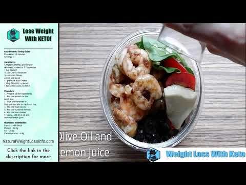Easy Keto Recipe Buttered Shrimp Salad Weight Loss With Keto
