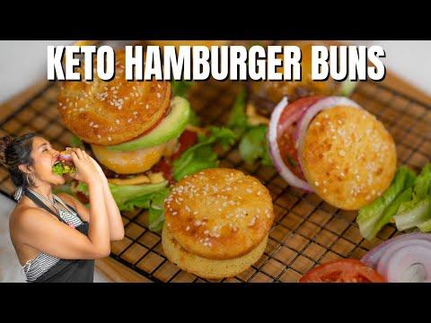 KETO HAMBURGER BUNS! How To Make Easy Keto Hamburgers Buns | Only 2 Net Carbs!