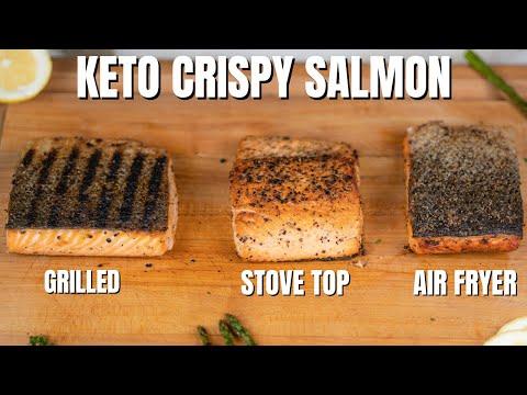 KETO CRISPY SALMON! Best Keto Salmon Recipe 3 Ways!
