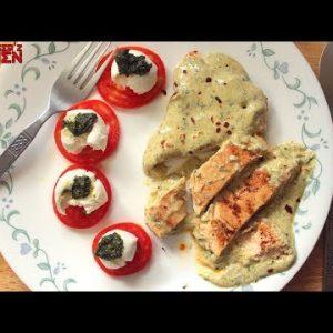 Grilled Chicken in a Creamy Pesto Sauce | Keto Recipes | Headbanger's Kitchen
