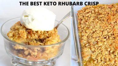 Keto Rhubarb Crisp | The Best Keto Rhubarb Crisp Recipe
