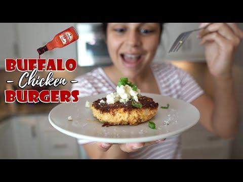 Buffalo Chicken Burgers Recipe | 5 Ingredients