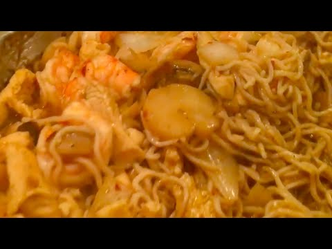 Chicken and Shrimp Lo Mein (low carb) Cooking Demonstration