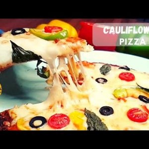 Cauliflower Pizza Crust Best Low-carb + Keto Pizza Crust Recipe 👉 Cauliflower Pizza Keto Recipe