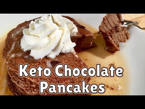 Keto Double Chocolate Pancakes | BEST Keto Pancakes Recipe