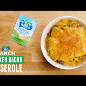 Chicken Bacon Ranch Casserole | Keto-Friendly