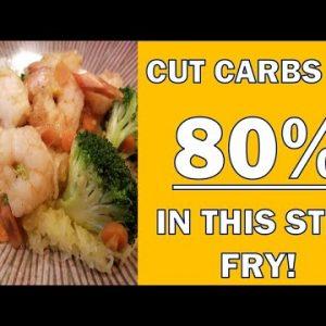 Easily Cut Carbs by 80%! Low carb spaghetti squash recipe for shrimp stir fry