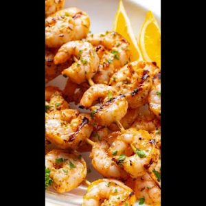 Grilled Shrimp Skewers #shorts