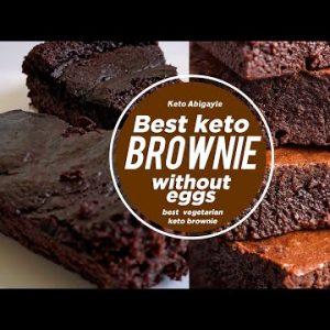 Best Keto Vegan Brownies Recipe | Flourless Brownies | Low Carb Gluten Free