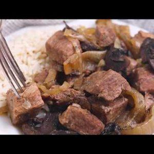 Slow Cooker Steak Tips (Keto)