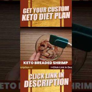 Keto Diet Recipes | Keto Breaded Shrimp #shorts