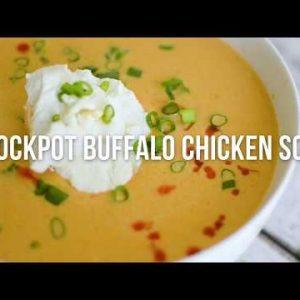 Keto Crockpot Buffalo Chicken Soup