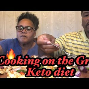 Cooking on the grill chicken and shrimp 🍤 (keto diet) omad diet,mukbang ,eating show,eat with us