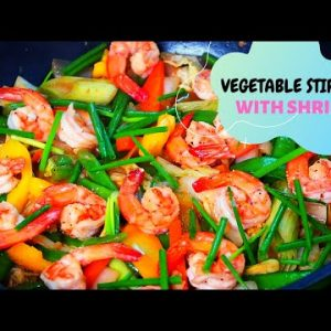 LOW CARB VEGETABLE STIR FRY  WITH SHRIMP RECIPE- STEP BY STEP