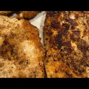 Best Keto Breaded Fried Chicken Cutlets/ Chicken Tenders/Keto Diet Recipe