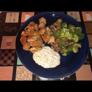 Keto Recipe…Battered Shrimp with broccoli salad!