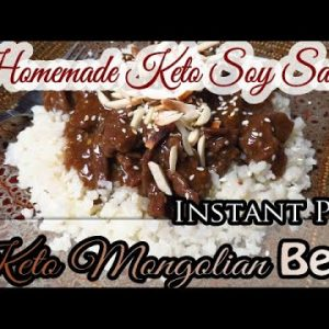 Keto Mongolian beef with homemade soy sauce INSTANT POT