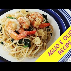 LOW CARB  AGLIO OLIO WITH SHRIMP AND SPINACH-HEALTHY RECIPE||#COOKING VLOG