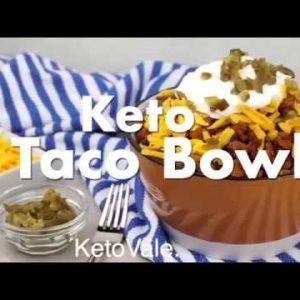 Cheesy Beef Taco Bowl – Low Carb Keto Recipe