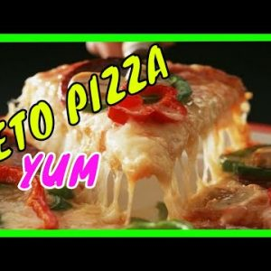 The Best Keto Pizza recipe ever ! (REAL DOUGH)