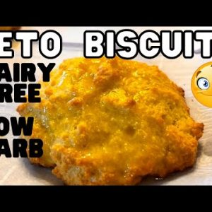 BEST Keto Biscuits Recipe I Dairy Free I How To Make Low Carb Biscuits