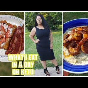 #ketomeals #ketodiet #whatieatinaday  WHAT I EAT IN A DAY ON KETO | SHRIMP AND GRITS