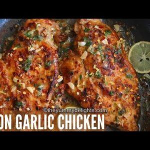 Lemon garlic chicken | lemon garlic chicken recipe | easy lemon garlic chicken | lemon chicken